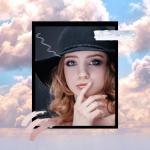 Чёрная фетровая шляпа с полями