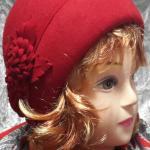 фетровая красная шапка капор купить