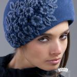 голубая фетровая шляпка