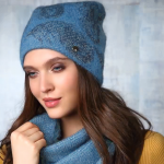 голубая шапка купить