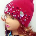 купить красивую шапку с камнями в Новосибирске