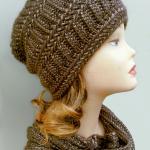 купить вязанную шапку снуд
