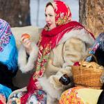 купить красивый платок в русском стиле