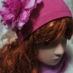 шапка с цветком