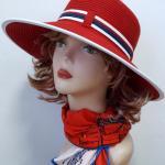 купить красную шляпу для пляжа