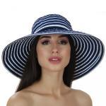 летняя шляпа из хлопка сине-белая