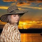 Шляпа мягкая коричневая шляпка