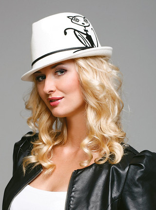 Женские фетровые и велюровые шляпы